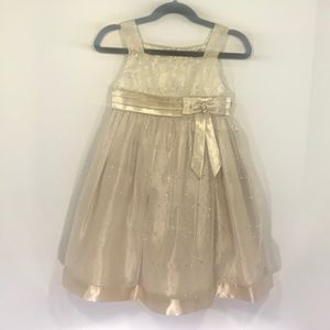 Gold love dress by special occasions.com.